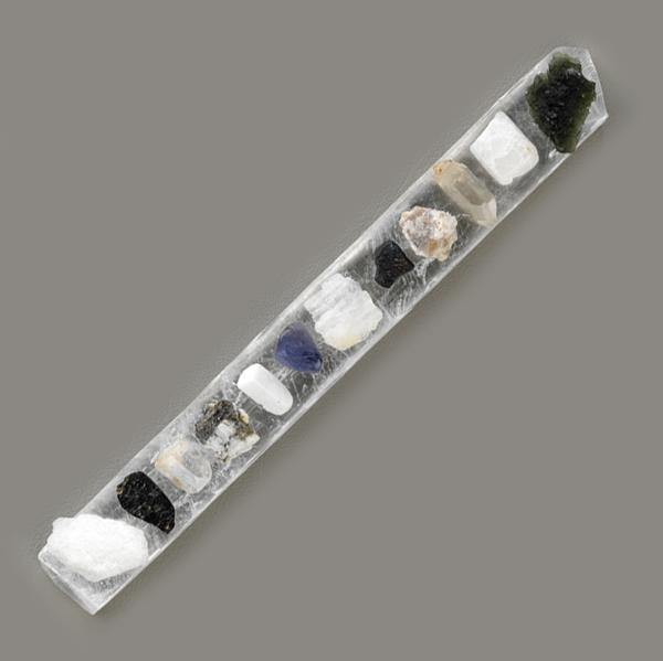 Selenite Synergy 12 Stones Crystal Healing Wand