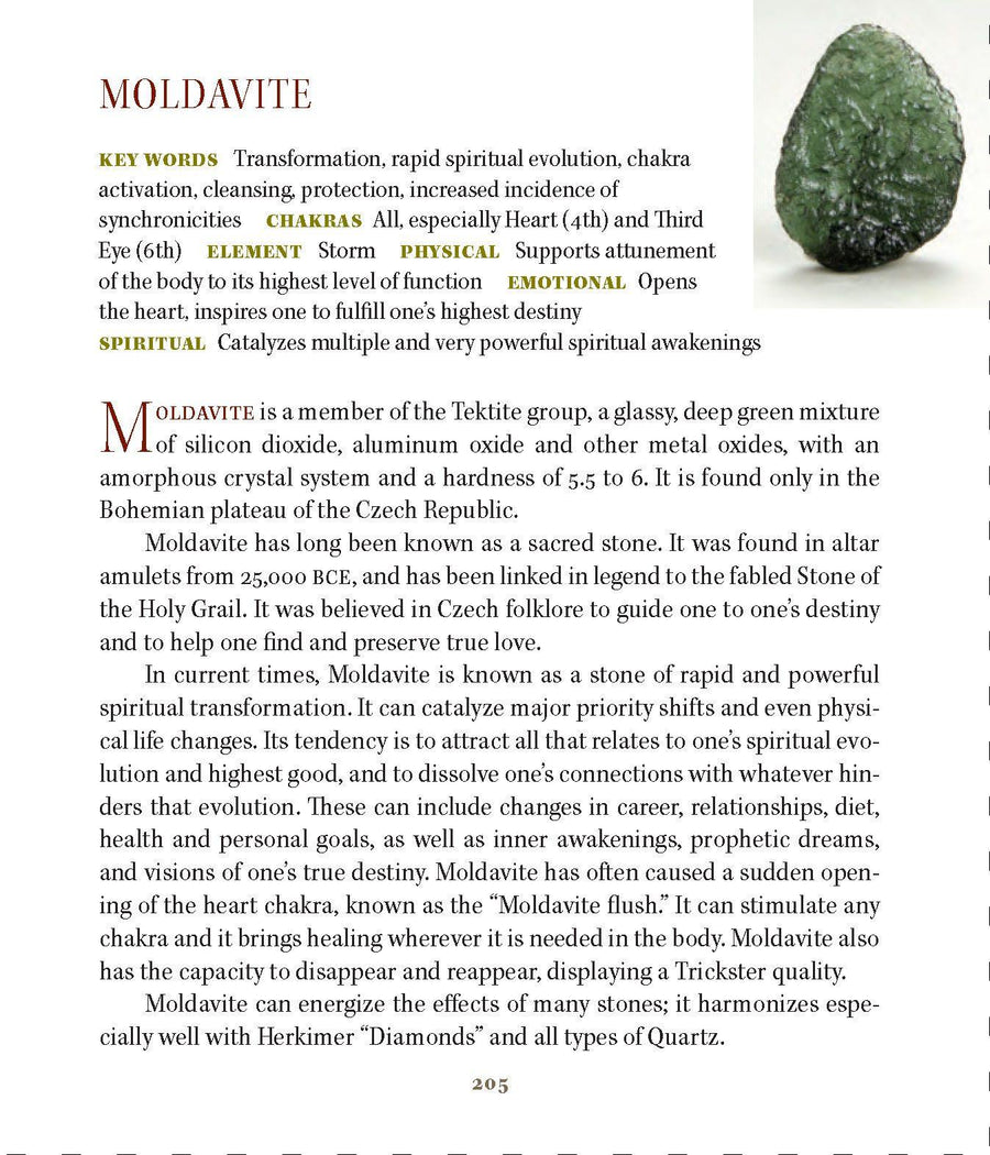 Moldavite Synergy 12 Stone Crystal Ring