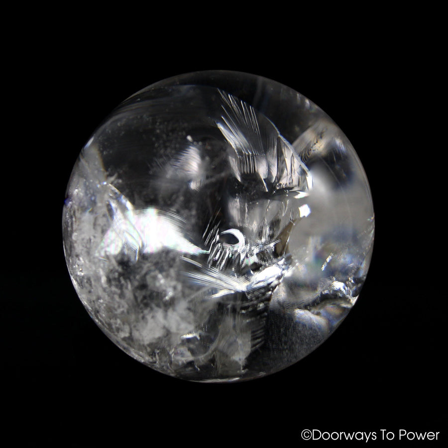 Satyaloka Azeztulite Quartz Crystal Sphere XL Rainbows