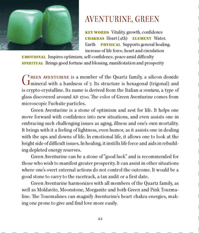 Green Aventurine Properties Book of Stones