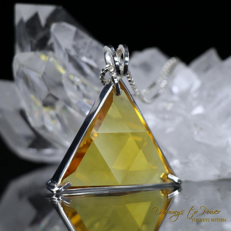 Siberian Gold Quartz Vogel Star of David Pendant