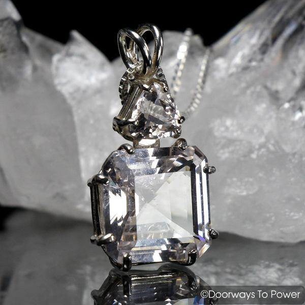 Danburite & Morganite Earth Heart Crystal Pendant