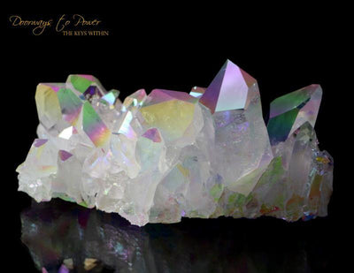 Angel Aura Arkansas Quartz Vortex Activation Record Keeper Cluster