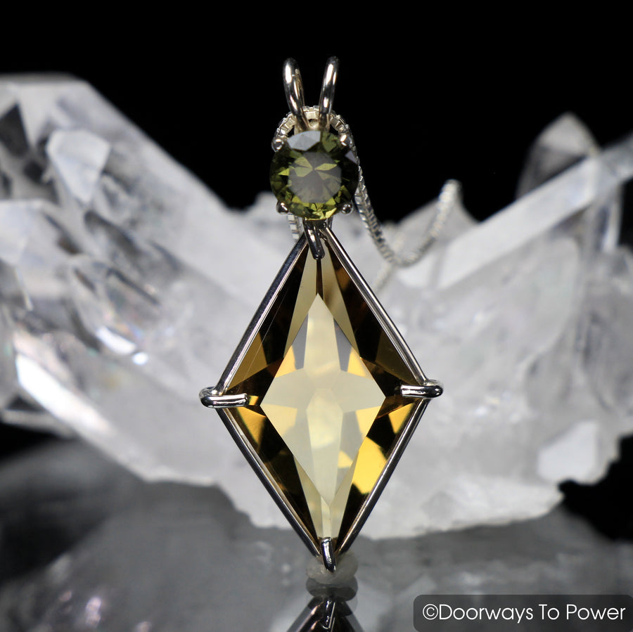 Citrine & Moldavite Ascension Star Pendant