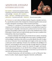 Cinnazez Azeztulite Metaphysical Properties Meanings Book of Stones