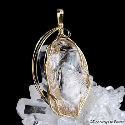 HGW Pink Andara Crystal Pendant 14k 'Heart Of God Within'