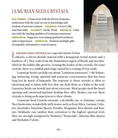 Lemurian Seed Properties book of stones