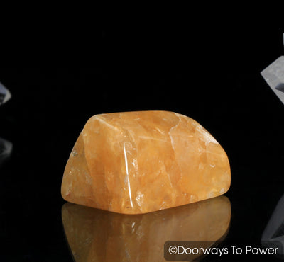 Himalaya Gold Azeztulite Crystal Polished & Azozeo Activated