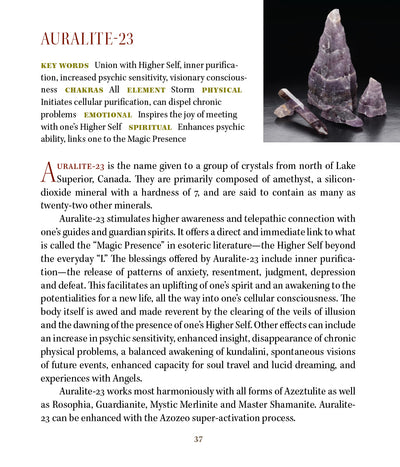 Auralite 23 Crystal Azozeo Super Activated 'Magic Presence'