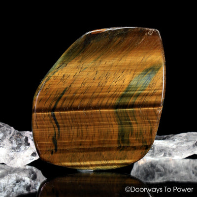 "Tigers Eye ""Voyager' Meditation Crystal ""Discernment and Balance"""