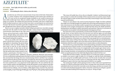 White Azeztulite Crystal Properties