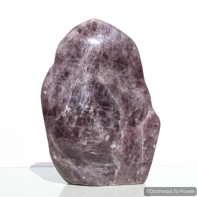 Purple Angelite Crystal 'Violet Aura' Ascension Stone