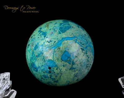 Chrysocolla Crystal Sphere