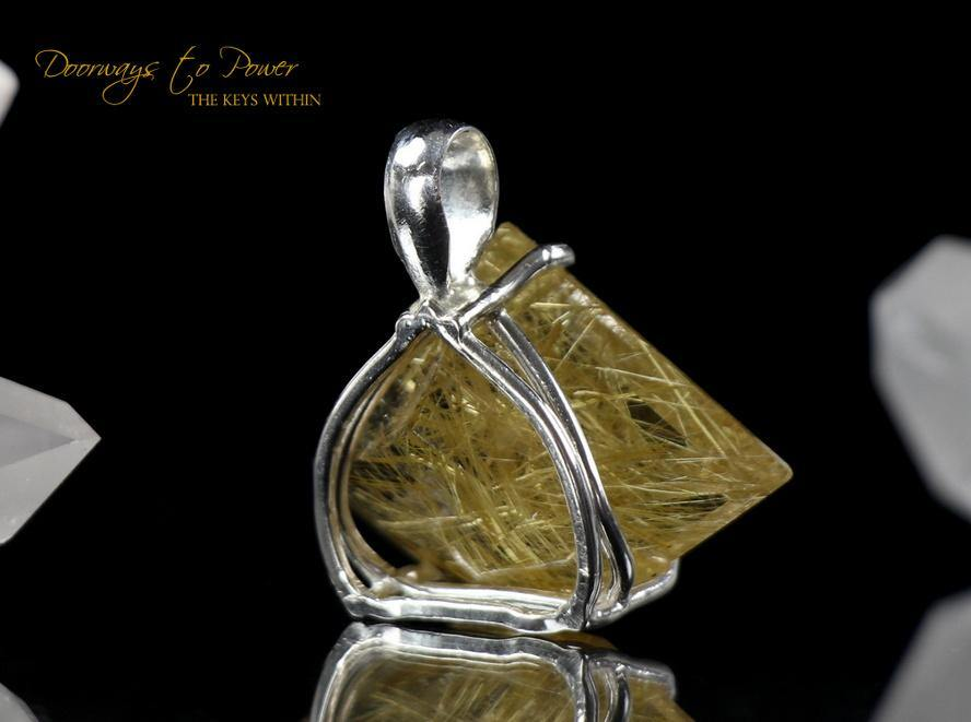 Golden Rutilated Quartz Faceted Pendant 'The Illuminator'