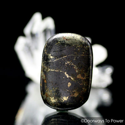Healers Gold Tumbled Stone Magnetite Pyrite Crystal
