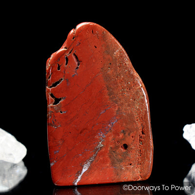 Red Fire Azeztulite Crystal Altar Stone (Polished)