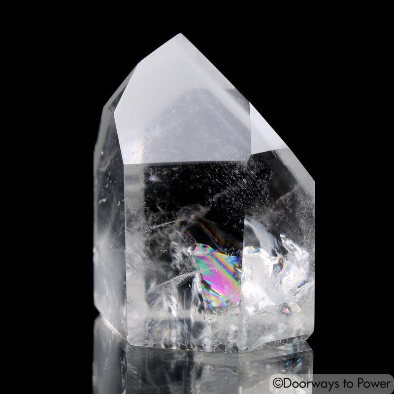 Lemurian Light White Phantom Quartz Shaman Dow Crystal 'RE BIRTH'