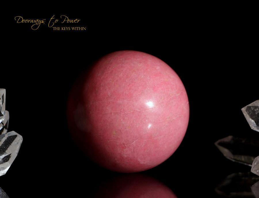 Rose Pink Thulite Crystal Sphere
