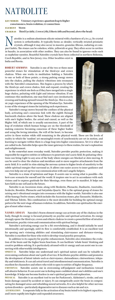 Natrolite Metaphysical Properties Book of Stones