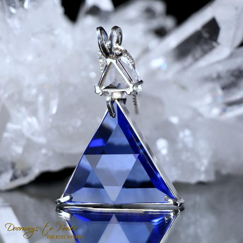 Siberian Blue Quartz Star of david Pendant with petalite