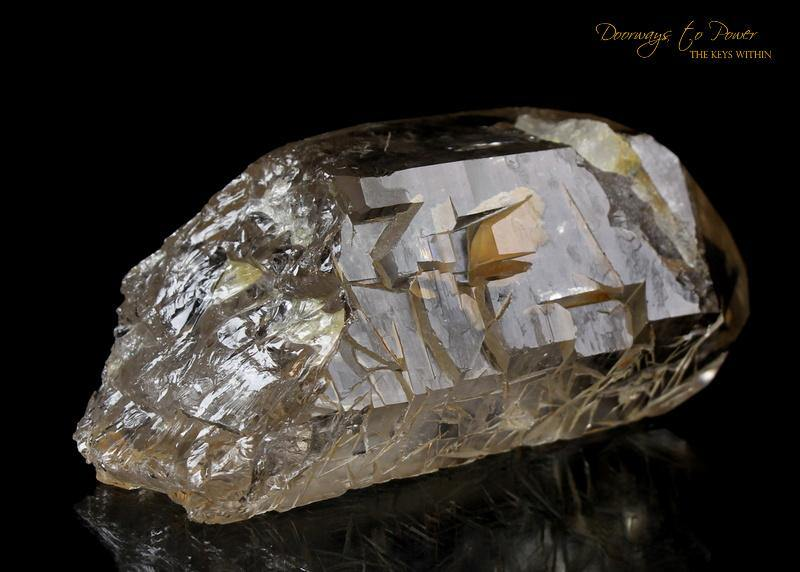 Golden Harmonics Spirit Paths Quartz Crystal 'Bridge to Infinity'