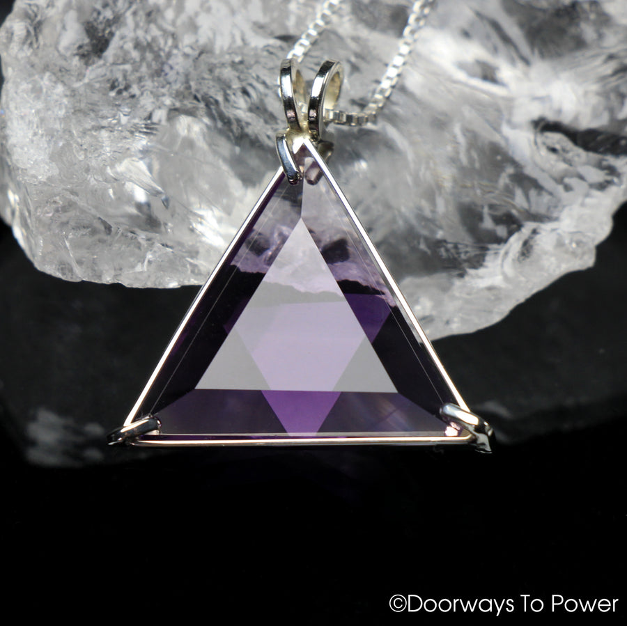 Amethyst Star of David Vogel Crystal Pendant .925 SS