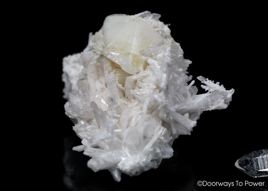 Danburite Quartz Crystal Cluster with Calcite 'Rays of Light'