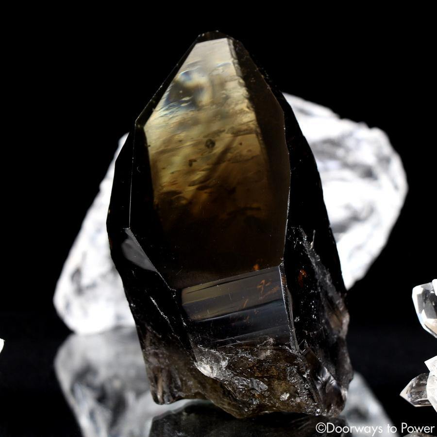 Smoky Citrine Lemurian Phantom Quartz Record Keeper Crystal 'Grounded In the All'