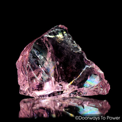 HGW Pink Monatomic Andara Crystal w/ Rainbows 'Heart of God Within'