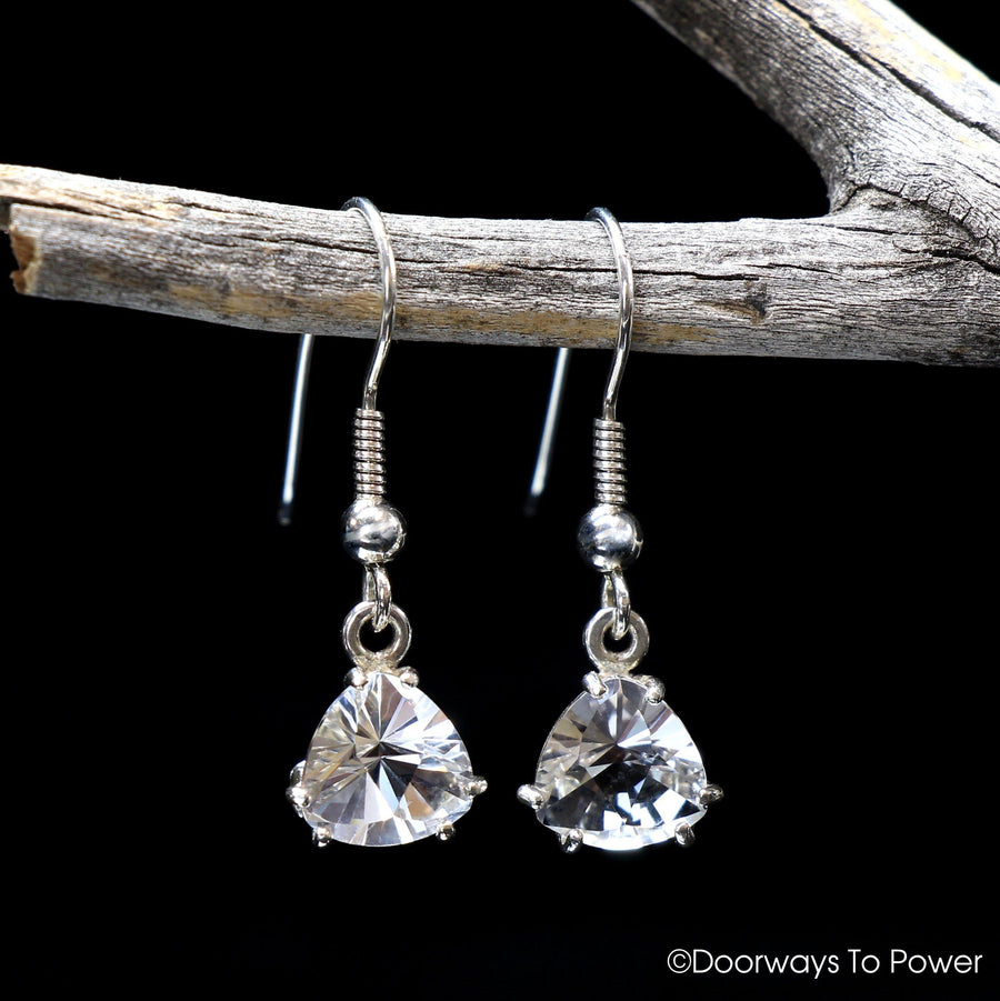 John of God Quartz Casa Crystal Pyramid Ring & Earrings