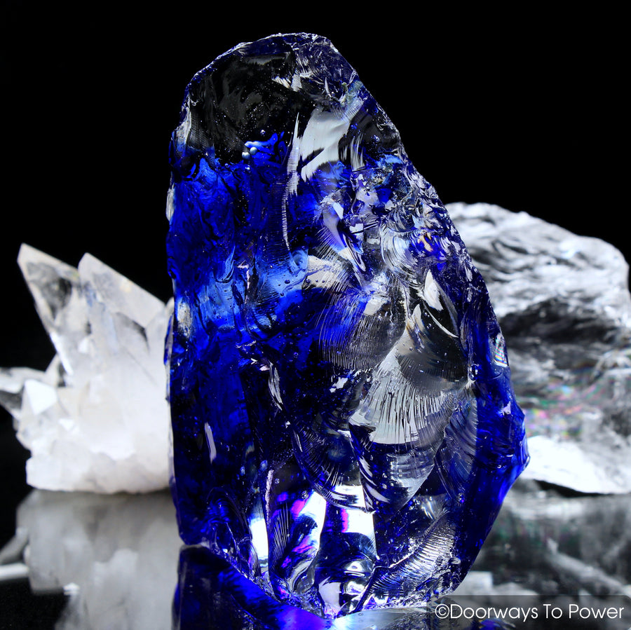 Magnificent Tanzanite Fire & Elestial Starlight Monatomic Andara Crystal Sculpture 'Andara Alchemy'