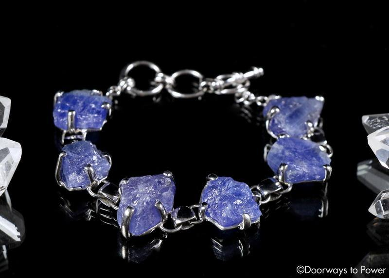 Tanzanite Synergy 12 Stone Crystal Gemstone Bracelet
