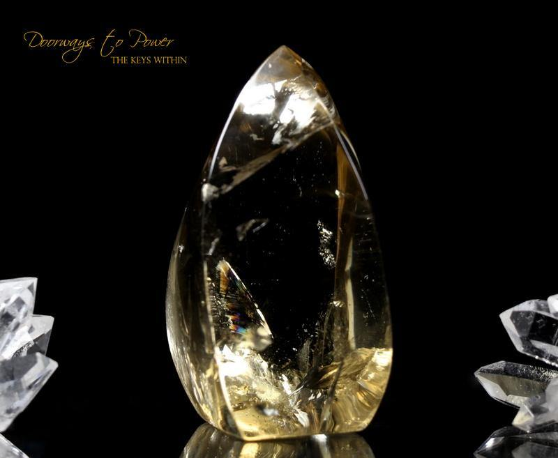Citrine Quartz Crystal Sculpture 'The Oracle'