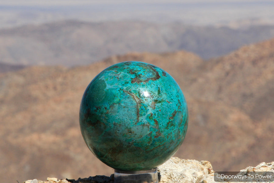 Chrysocolla Crystal Gemstone Sphere Ball