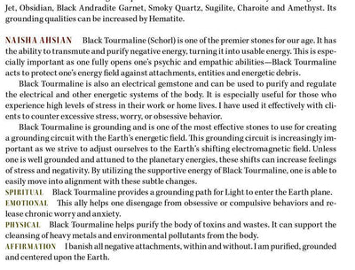 Black Tourmaline Properties