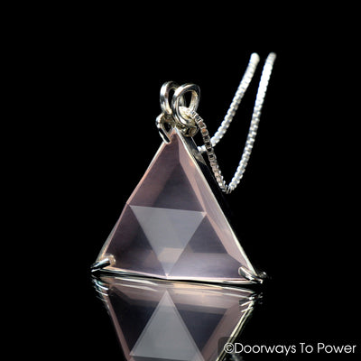 Rose Quartz Star of David Vogel Crystal Pendant