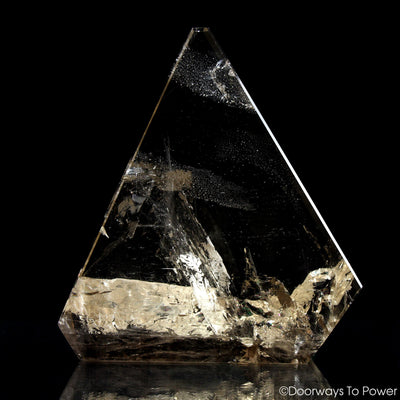 John of God Quartz Triangle Casa Crystal Sculpture 'Abundance'