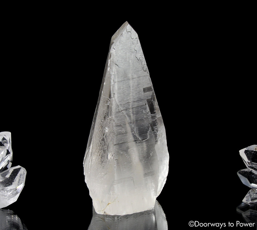 Lemurian Quartz Crystal 'Light Language 9D Energy Gateway'