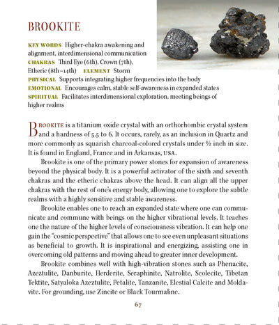 Brookite Metaphysical Properties Meanings Book of Stones