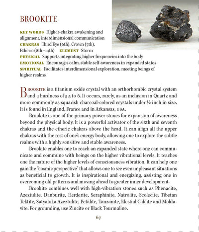 Brookite Metaphysical properties