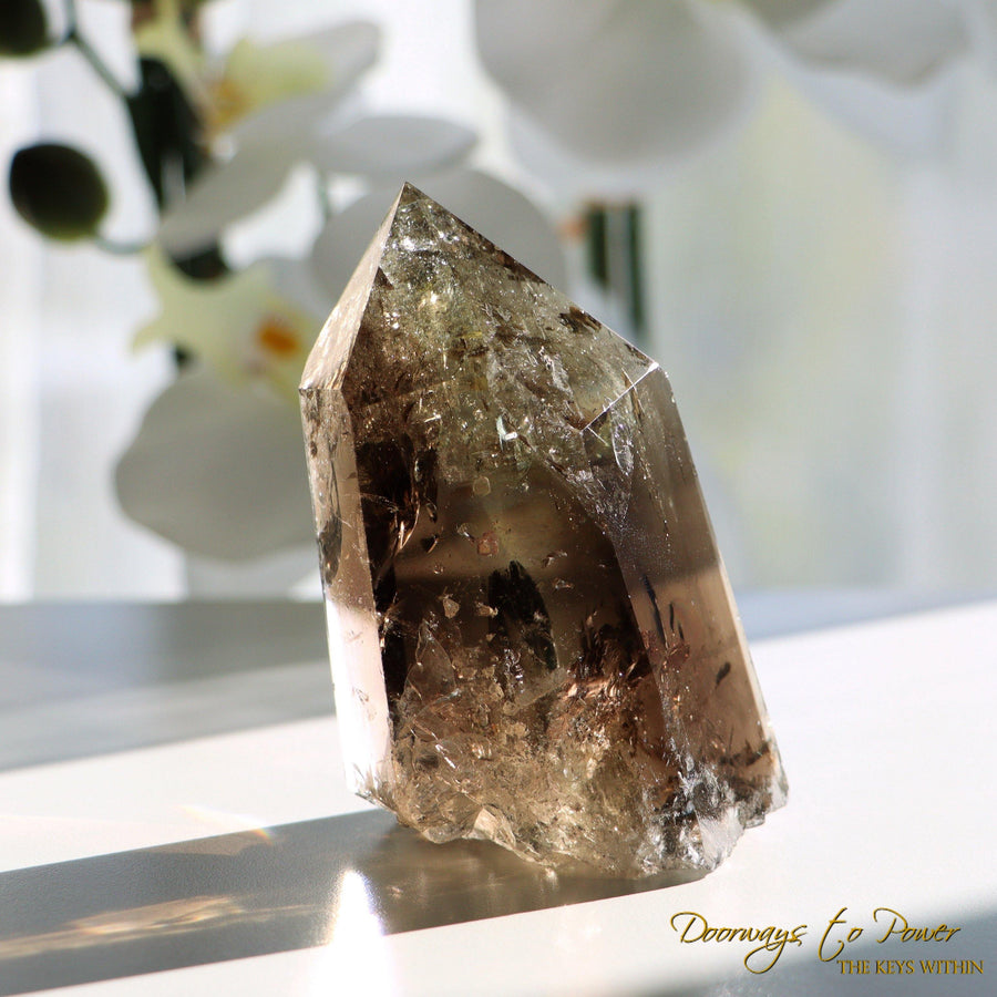 Smoky Citrine Phantom Quartz Crystal Generator Point