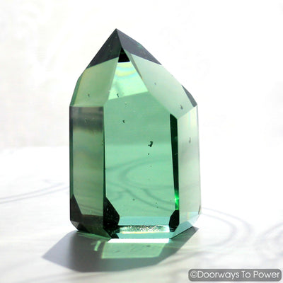 John of God Casa Crystal Point Green Obsidian Blessed & Energized