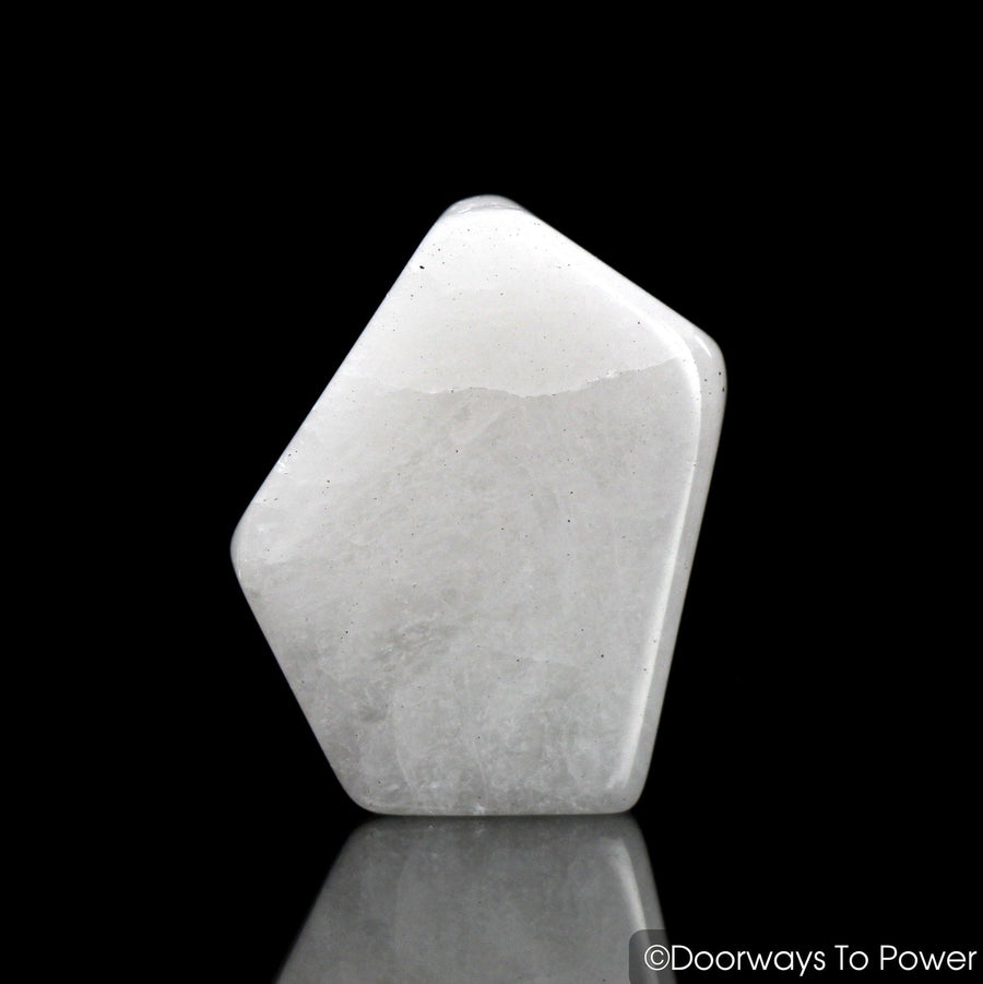 White Azeztulite Crystal Tumbled & Polished