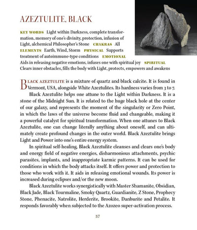Black Azeztulite Crystals Doorways to Power