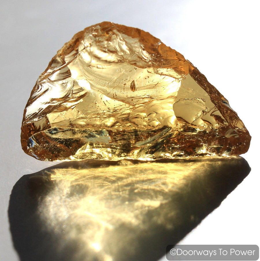 Lemurian Amber Monatomic Andara Crystal 'Light Transmuted into Life'
