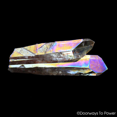 Angel Aura Quartz Starbrary Tantric Twin Crystal 'Twin Flame'