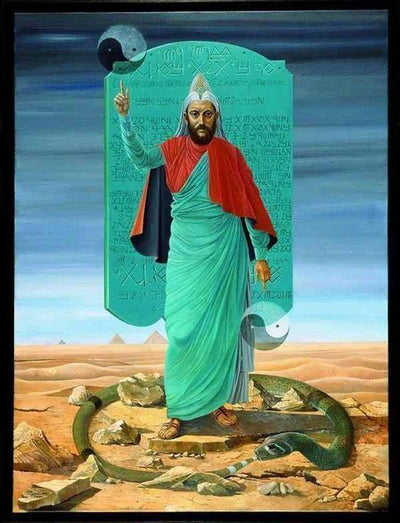 Emerald Tablets of Thoth Pendant