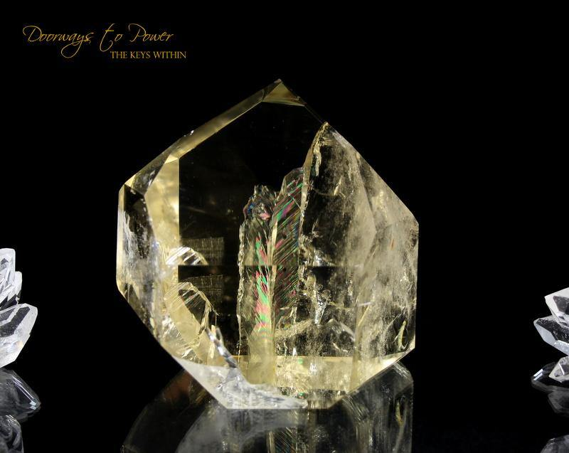 Citrine Temple Heart Dow Atlantis Crystal 'City of Golden Gates'