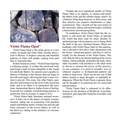 Violet flame Opal Metaphysical Properties Meanings - Book of Stones