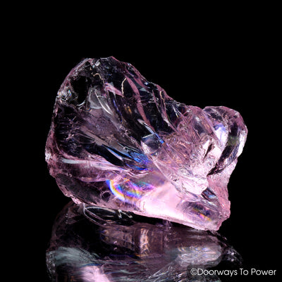 HGW Pink Lady Nellie Andara Crystal 'Heart of God Within' w/ Rainbows